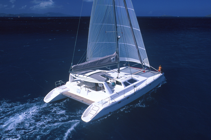 Voyage 500 under sail